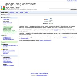 blog convertor -- Convert your blog from one platform to another