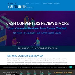 What Cash Converters Buy For Money - Convert Your Gadgets Into Cash