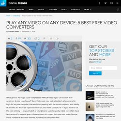 Best Free Video Converters