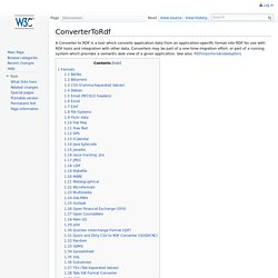 ConverterToRdf - W3C Wiki