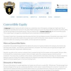Convertible Equity - An Alternative to Convertible Debt