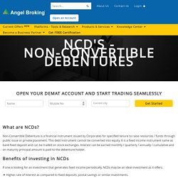 Guide on NCD Investment Bonds Online in India at Angel Broking