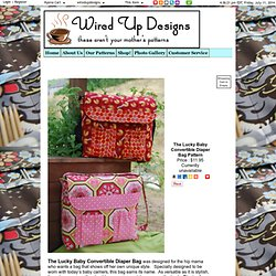 The Lucky Baby Convertible Diaper Bag Pattern