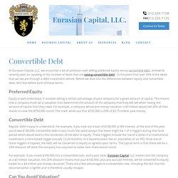 Convertible Debt & Bonds