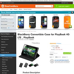 BlackBerry Convertible Case for PlayBook | BlackBerry PlayBook Flip-Lid Cases | ShopCrackBerry