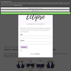 Monroe : haut de bikini convertible [ Patron gratuit + tutoriel] - Site de eclipse-lingerie-studio !