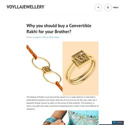 Why you should buy a Convertible Rakhi for your Brother?
