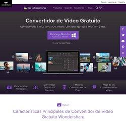 Convertidor de Video Gratuito por Wondershare: Convertir archivos de v