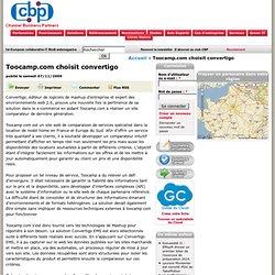 Toocamp.com choisit convertigo