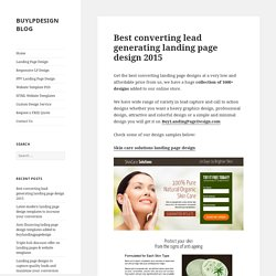 Best converting lead generation landing page design 2015