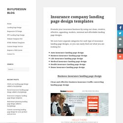 Download best converting insurance landing page templates