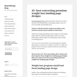 Best converting weight loss landing page design that converts