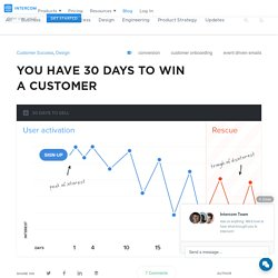 Converting Customers in 30 days with well timed emails