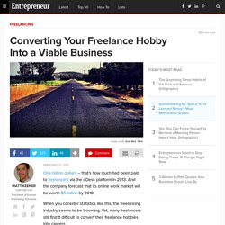 Converting Your Freelance Hobby Into a Viable Business