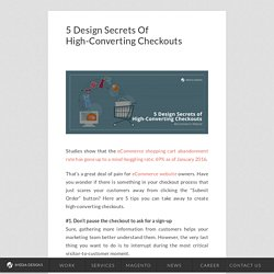5 Design Secrets Of High-Converting Checkouts