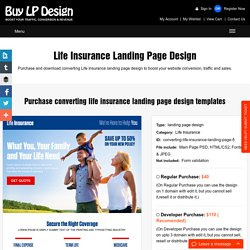 effective and converting landing page designs and website templates