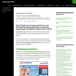 Top 10 converting landing page design 2013 for inspiration