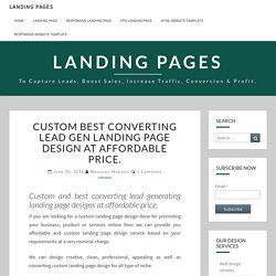 Get a best converting lead gen landing page design templates