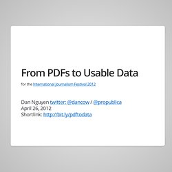 Converting PDFs to Usable Data