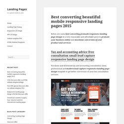 Best converting beautiful mobile responsive landing pages 2015