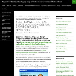 6 best converting real estate landing pages for agents & broker