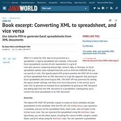 Book excerpt: Converting XML to spreadsheet, and vice versa