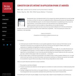 Convertir son site internet en application Iphone (et Androïd)