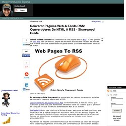 Convertir Páginas Web A Feeds RSS: Convertidores De HTML A RSS - Sharewood Guide