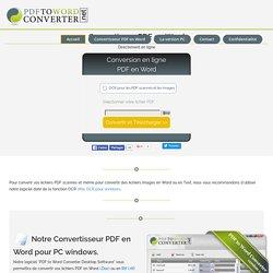 Convertir pdf en word - convertir en ligne les document pdf en word - convertisseur pdf en word