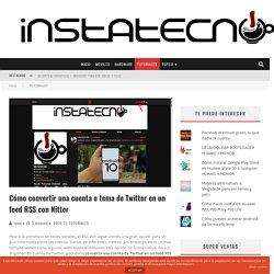 Cómo convertir una cuenta de Twitter en un Feed RSS con Nitter