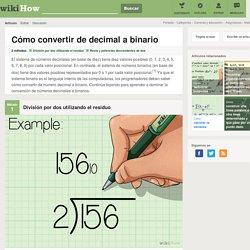 Cómo convertir de decimal a binario: 10 pasos