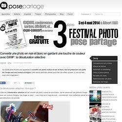 Convertir une photo en noir et blanc en gardant une touche de couleur, avec GIMP : désaturation sélective