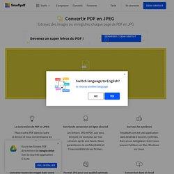 Convertir PDF en JPEG – Extraire les images des PDF - gratuit