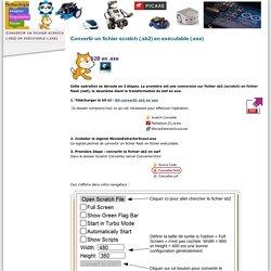 Convertir un fichier scratch (.sb2) en exécutable (.exe)