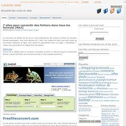 Convertir des fichiers dans tous les formats : 7 sites