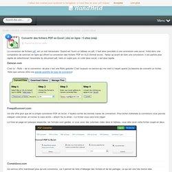 Convertir des fichiers PDF en Excel (.xls) en ligne : 5 sites gratuits