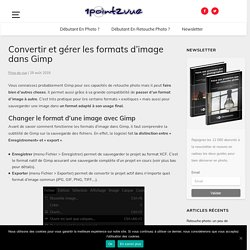 Convertir et gérer les formats d'image dans Gimp