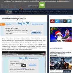 Convertir une image en CSS