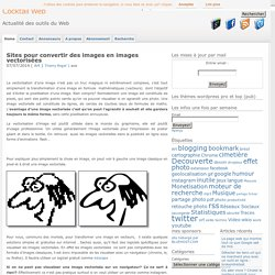 Sites en ligne pour convertir des images en images vectorisées
