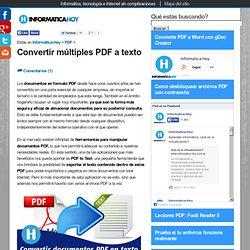 Convertir multiples PDF a texto