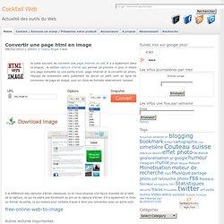 Convertir une page html en image