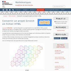 Convertir un projet Scratch en fichier HTML