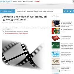 Convertir une vidéo en GIF animé, en ligne et gratuitement