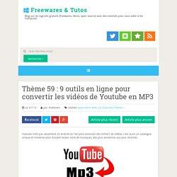 9 outils en ligne pour convertir les vidéos de Youtube en MP3