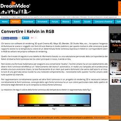 Convertire i gradi Kelvin in RGB
