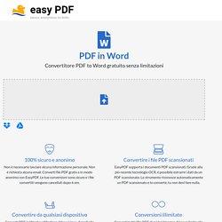 Convertire PDF in Word online gratis 100% - Senza registrare