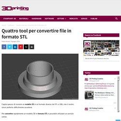 Quattro tool per convertire file in formato STL