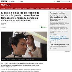 El país en el que los profesores de secundaria pueden convertirse en famosos millonarios (y donde los alumnos son más infelices) - BBC Mundo