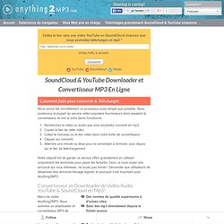 SoundCloud & YouTube Downloader et Convertisseur MP3 En Ligne