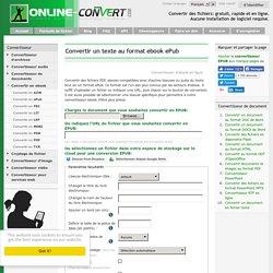 Convertisseur ePub en ligne